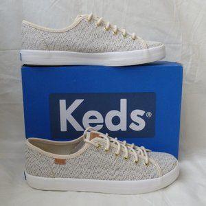 Keds Kickstart Salt Pepper Cream Tweed Sneakers